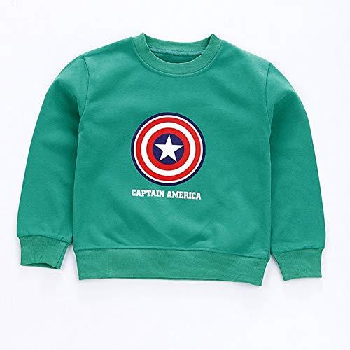 Towel Rings Sudaderas De Escudo del Capitán América Camiseta, Niñas Niños Superhero Marvel Avengers Captain America Shield Camiseta para Hombre Moda Sudadera De Manga Larga Algodón