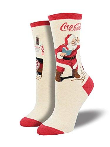 Socksmith Classic Coke Santa Ivory Heather 9-11 (Women's Shoe Sizes 5-10.5)