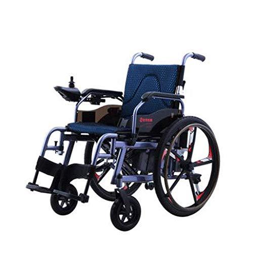 FHISD, Silla de Ruedas eléctrica para Ancianos, Coche para discapacitados, Scooter portátil automático Inteligente para Ancianos, Plegable Multifuncional