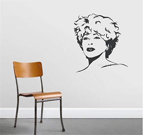 etiqueta de la pared pegatinas decorativas pared Decoración famosa del cantante Tina Turner calcomanías Rock Queen Poster para niñas dormitorio sala de estar
