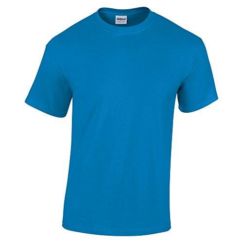 Gildan Sapphire - Camiseta de manga corta para adulto (algodón), color azul