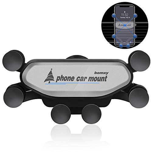 bomxy Cell Phone Car Cradles Air Vent Car Mounts Holder Auto-Retractable Automatic...