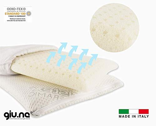 GIU.NE® Cuscino Per Bambino Memory Foam Nuova Generazione 100% Lavabile Antisoffoco Di Sicurezza Per Culla E Lettino Ipoallergenico Colore Bianco Dimensioni 50 X 30 X 4,0 Cm (50x30x4)