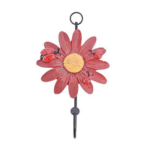 Forma de Flor Dormitorio Creativo Hogar Decorativo Baño Toalla Percha Gancho Colgante Perchero Perchero Perchero(Red)