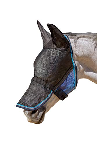 Kensington UViator Protective Fly Mask with Removable Nose and Ears (Lavender Mint, X-Large)