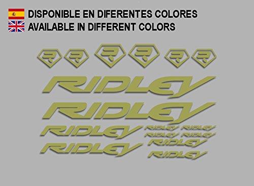 Ecoshirt My-KRDS-FCZ8 Aufkleber Ridley Bike F133 Stickers Aufkleber Decals Autocollants Adesivi, Gold
