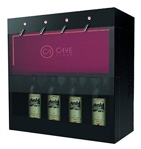 Cavevinum Dispensador y Preservador de Vino Tinto, Acero Inoxidable, Negro,