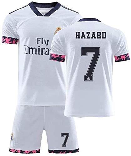 LLM Soccer Suit 2020#7 Eden Hazard Football Jersey Full Set Suitwrinkle Resistance Breathable Training Wear Sportswear for Men Boy Soccer Fans Gift (Color : White, Size : Medium)