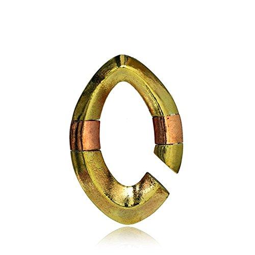 Chic-Net Piercing ear weight gold rose gold 8 mm copper brass 23.5 g 50 mm almond hoop earrings antique lobe ear expander weight expander snail earrings women men jewellery oval edge rose band open