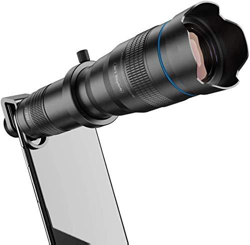 MWKLW Telescopio telefoto móvil 36X, teleobjetivo con Zoom con trípode, Lente HD para Smartphone Compatible iPhone, Samsung, Android, monocular