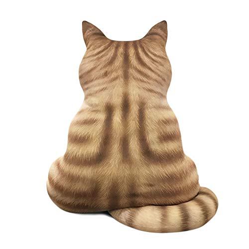 KIYOUMI Nette Katze weicher Plüsch Zurück Schatten Spielzeug 3D-Katze-Puppe-Kissen-Geschenk für Jungen oder Mädchen Zimmer,C,59CM
