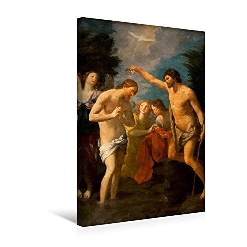 Calvendo Premium textiel canvas 30 cm x 45 cm hoog, een motief uit de kalender van Jezus Christus - Het leven Christi op schilderijen van oude meesters | muurschildering. Doop Christi (Guido Reni) kunst