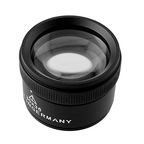 YiFeng 30X x 36mm Optics Loupes Magnifier Magnifying Glass Lens Portable for Jeweler Coins Stamps