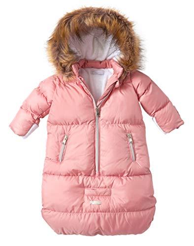 Cremson Girls Boys Newborn Infant Baby Puffer Carbag Pram Bag Snowsuit Bunting - Mauve Pink (Size 0/6 Months)