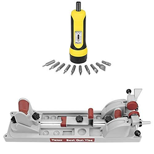 Wheeler Firearms Accurizing Torque Wrench and Tipton Best Gun Vise for Cleaning, Gunsmithing and Gun Maintenance