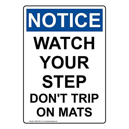 Wendana Let Let op Uw Stap Niet Trip Op Matten Teken, Grappige Tin Metalen Waarschuwingsborden voor Eigendom, Aluminium, Poort Sign, Hek Teken Buiten, 8