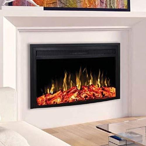 Noble Flame Dover 590 - elektrische open haard inbouwhaard - Moderne LED-technologie incl. verwarmingsfunctie - bedrieglijk echte vuursfeer - verbrandingskamer 53 cm