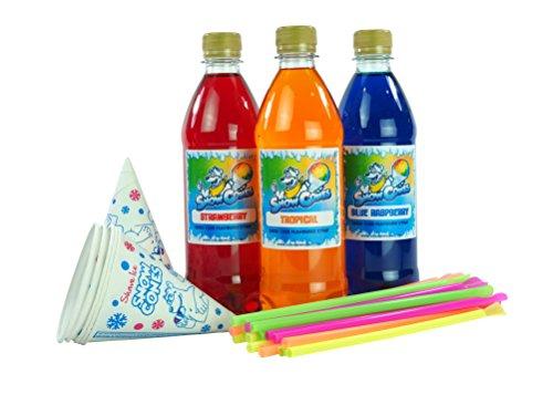 Slush Puppie|Snow Cone Syrup|3 x 500ml bottles (The Rainbow Pack)...