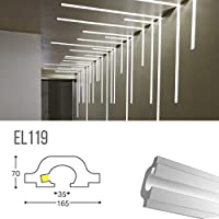 el119–corte de luz indirecta LED de Techo empotrable en el Cartón yeso