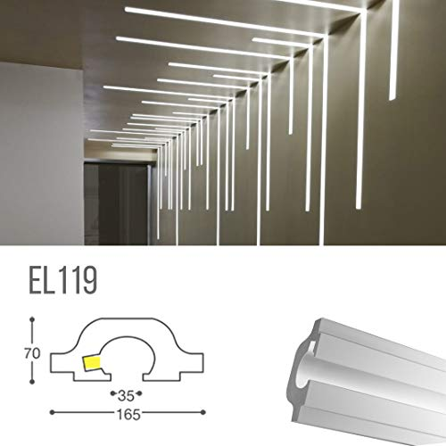 EL119 - Taglio di luce indiretta led a soffitto da incasso nel cartongesso