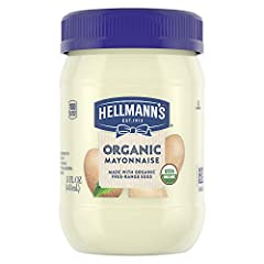 Hellmann's Organic Mayonnaise is USDA-Certified Organic Organic Mayo made with the Finest Organic Ingredients, like Organic Expeller-Pressed Oil No Artificial Flavors or Preservatives in Hellmann's Organic Mayo Organic Mayo condiment made with 100 pe...