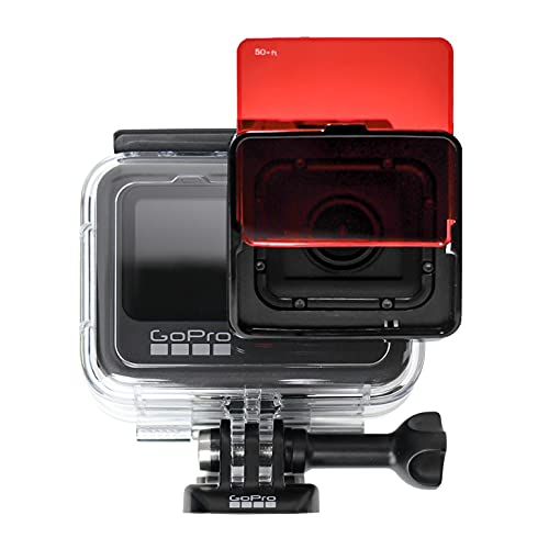 SANDMARC Aqua Filter: Tauchen Filters für GoPro Hero 9 (Protective Housing) - Rot, Magenta und Gelb Filter Set - Tauchen und Schnorchel Zubehör - 3 Pack
