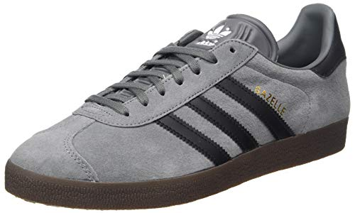adidas Gazelle, Zapatillas de Atletismo para Hombre, Grey Four F17 Core Black Gum5, 42 2/3 EU