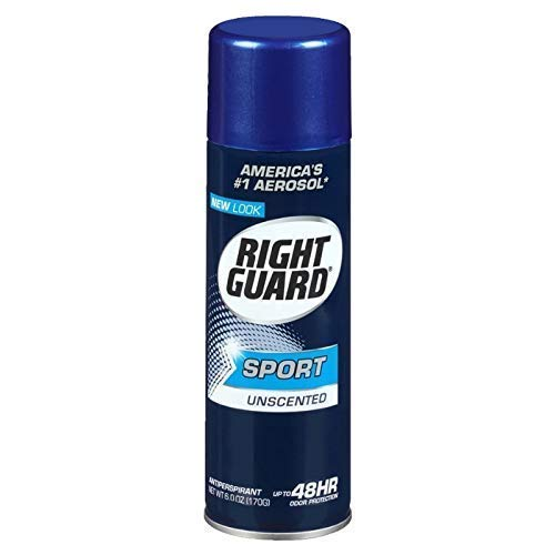 Right Guard Sport Unscented Aerosol Antiperspirant Spray 6 oz (Pack of 6)
