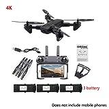 Mikiya SG700-D 4K Grand Angle Drone avec caméra de positionnement Flux Optique Pliable FPV RC Quadcopter avec Batterie Accessoires