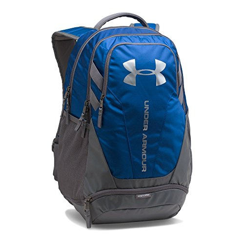 Under Armour Hustle 3.0 Backpack, Royal (400)/Silver, One Size Fits All