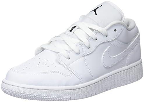 Nike Air Jordan 1 Low Bg, Boy's Basketball Shoes, White 101, 5 UK ...