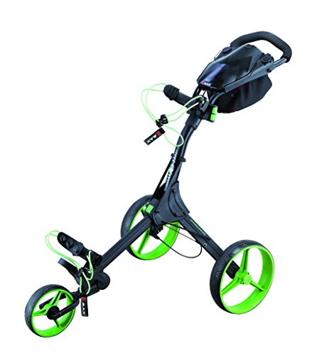 BIG MAX IQ+ Golftrolley Cart - 2015 Modell (Schwarz/Lime)