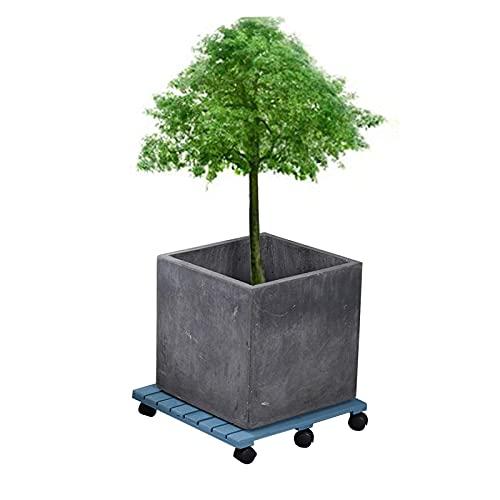 Lwjjby Carrito De Plataforma Cuadrado para Plantas con Ruedas, Carritos para Plantas De Interior De Servicio Pesado, Posavasos con Bandeja para Macetero para Exteriores (Size : 45CM)