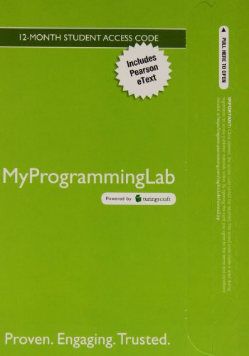 MyLab Programming with Pearson eText -- Access Code Card -- for Java Software Solutions: Foundations of Program Design