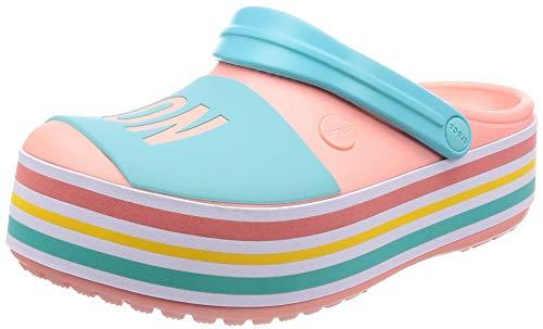 Crocs Cb Platform Bold Color U Clogs, Pink (Melon 737), 34/35 EU