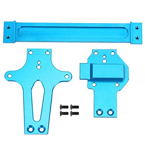 RC Car Radio Tray Zubehör für Aluminium Radio Tray Passend für WLtoys 1/12 124019 RC Car Upgrade(Blau)