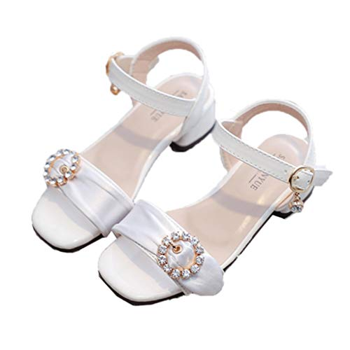 Sandalias para niños Color sólido Transpirable Niñas Zapatos de Princesa de tacón...