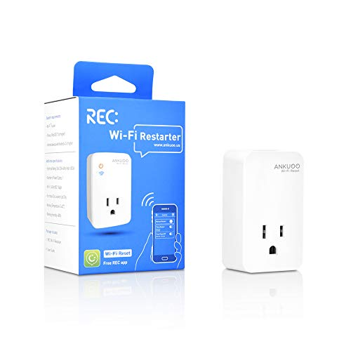 Wi-Fi Router Reset, Smart Plug Auto Monitor and Restart Wi-Fi Router/Modem/Access Points if Wi-Fi Fails, Auto Power Cycler for Modems and Routers, Works with REC App