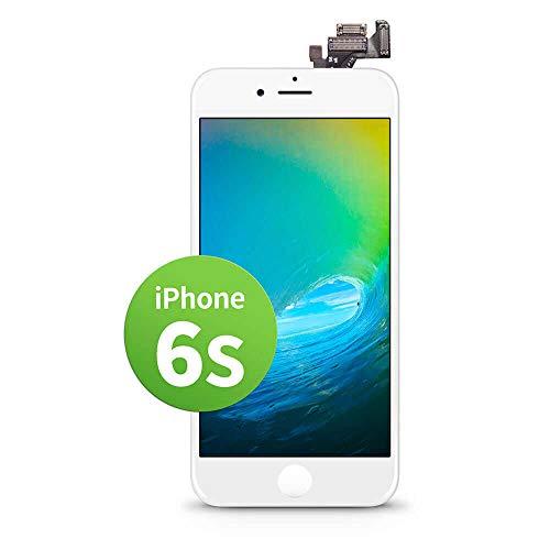GIGA Fixxoo kompatibel mit iPhone 6s LCD Touchscreen Retina Display Ersatz in Weiß für Einfache Reparatur, FaceTime Kamera (kein Set)