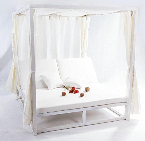 almar garden Cama balinesa Cortinas Aluminio Blanco