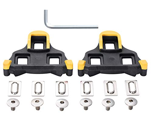 wile007 Bicyce Cleat Float Self-Locking Cycling Pedal Cleats,For Shimano SH11 SPD-SL Shoes, Indoor Cycling or Road Bike