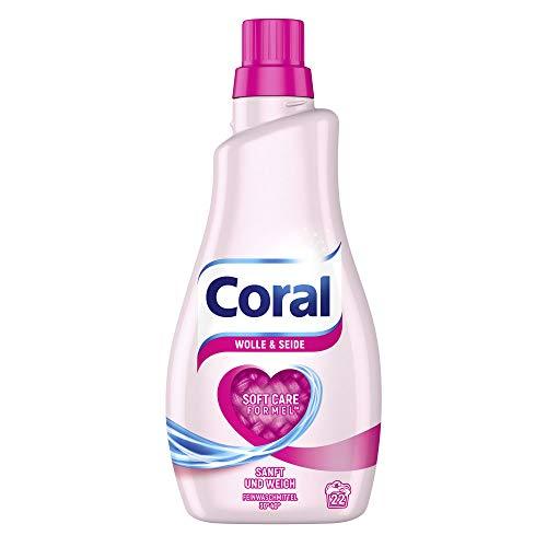 Coral Feinwaschmittel Wolle und Seide für empfindliche Textilien mit Soft Care Formel 1100 ml 22 WL