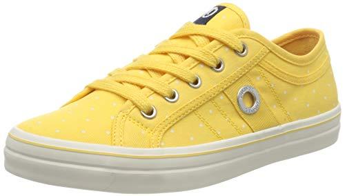 s.Oliver 5-5-23644-24, Zapatillas Mujer, Color Amarillo con Lunares Amarillos 604, 40 EU