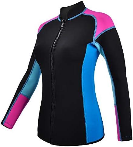 REALON Wetsuits Top Jacket Vest Mens Women 2mm Neoprene Long Sleeve 3mm Sleeveless Shirt Front product image
