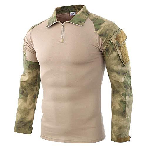 Hombres Cremallera Camuflaje Hombres Camuflaje Cremallera Personalidad Invierno Modernas Casual Sudadera Con Capucha Moda Sudadera Abrigo Chaqueta Charm Outwear ( Color : Army Green , One Size : XL )