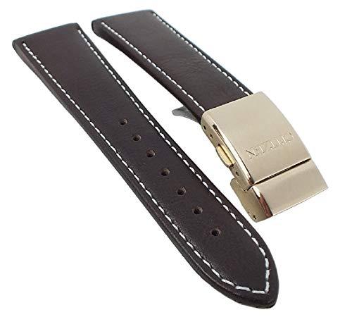 Citizen Elegant AT8019-02W - Correa de piel para reloj (23 mm), color marrón oscuro