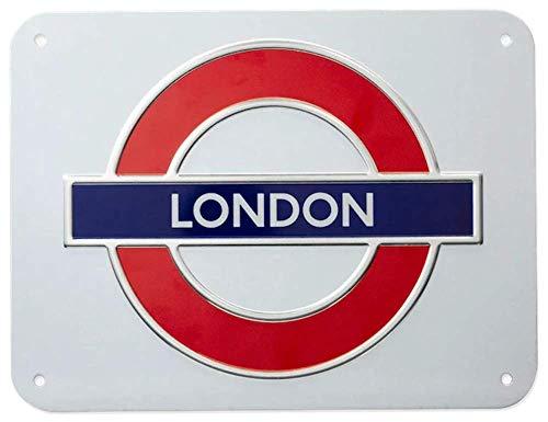 GWC London Underground Zeichen, London, Medium Metall Schild