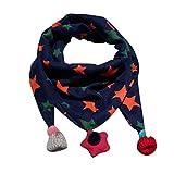 Dragon868 Schal Kinder, Winter Schal Mode Baby Schal Junge Mädchen Halstuch Kopf Hals Kind Schals (Marine)