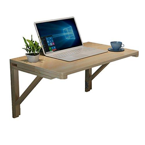 RUNWEI Klapptisch Einfacher Computertisch Wandmontierter Schreibtisch, Massivholz-Werkbank Für Wohn- / Schlaf- / Büro-Lounge-Tisch