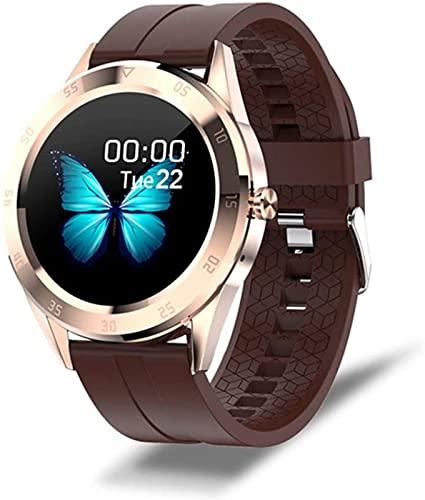 l b s Smartwatch Hombres Y Mujeres, Impermeable Deportes Fitness Watch Health Tracker, Teléfono Bluetooth Reloj Inteligente Hombres, Pantalla Climática (C)